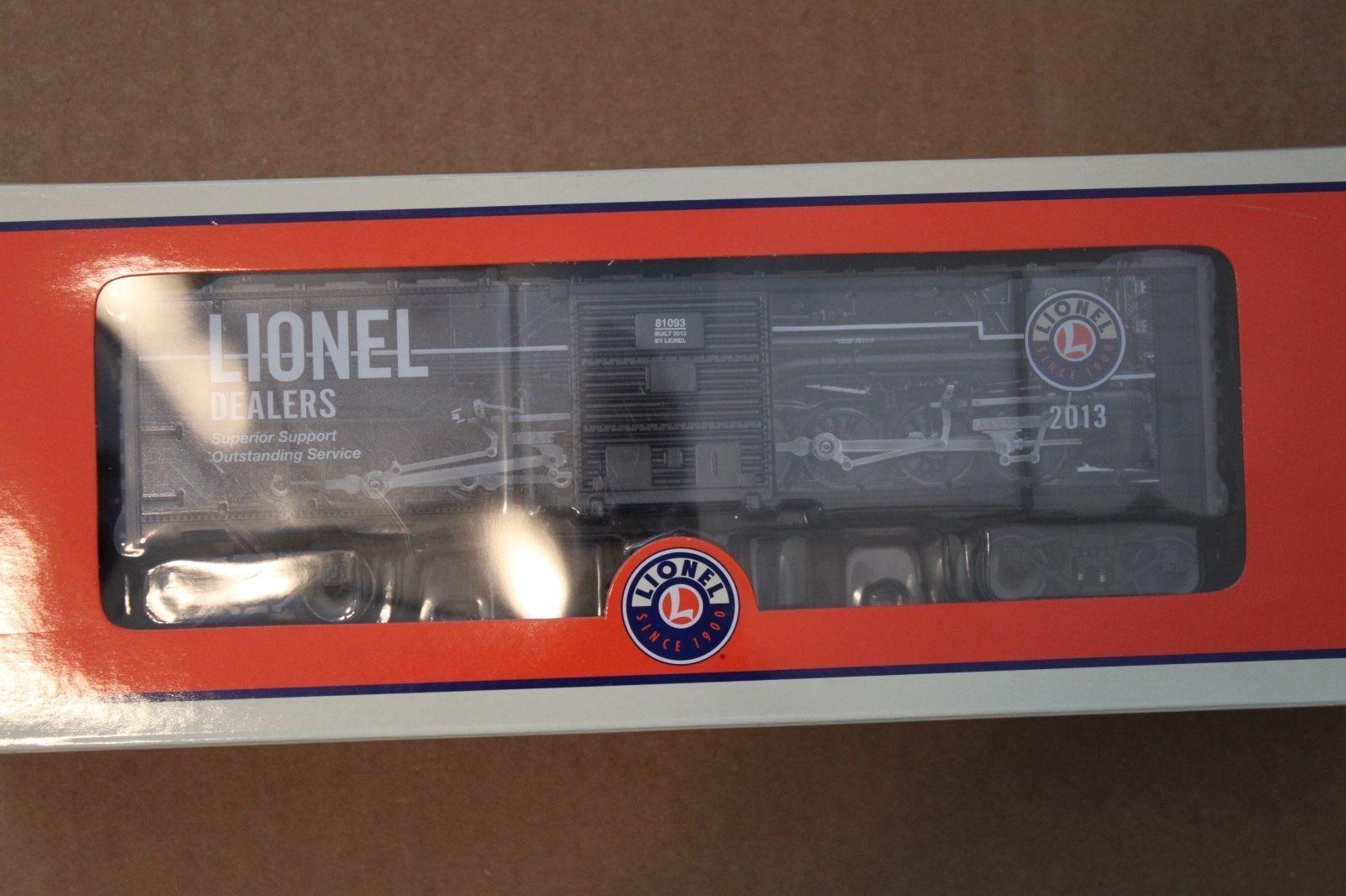 2013 Lionel Dealer apprezzamento scatolaauto 681093Scatola Nuovo di zecca con & Confezione Originale
