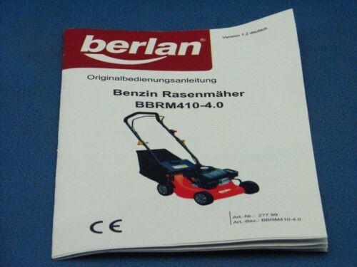 Manuel d/'utilisation de tondeuse Berlan bbrm 410-4.0