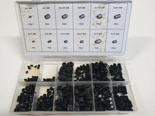4 x 5mm - 10 x 12mm EUREKA ASSORTMENTS Grub Screw Metric 450 Pcs Assortment