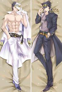 Anime-Dakimakura-JoJo-039-s-Bizarre-Adventure-Kujo-Jotaro-Hug-Body-Pillow-Case-Cover
