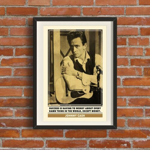 Johnny Cash Quote PrintQuality A3 Poster Pop Art Retro Gift Music Rock 1950s