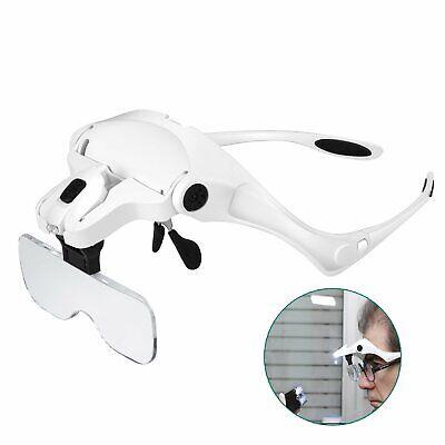 Diskret Rightwell Lupenbrille Mit Licht Hände Frei Kopfband Lupen Standlupe Mit 2 Led..