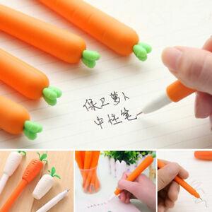Kawaii-Black-Gel-Ink-Pen-0-38mm-Cartoon-Carrot-Radish-Pen-School-Supply