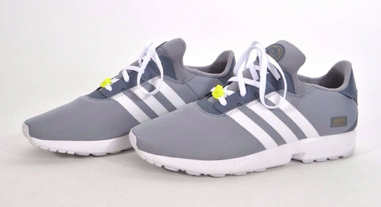 2018 MEN ADIDAS ZX GONZ SNEAKER 90 9 grey white yellow mesh leather GENTLY USED
