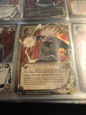 """Naruto Kakashi Hatake /""""Eye that Sees through Everything/"""" Super Rare NM 526"""