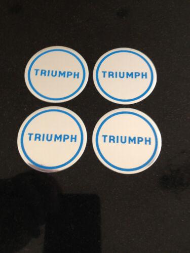 TRIUMPH SPITFIRE//GT6//TR7//8 DOLOMITE WHEEL CENTRE BADGE SET OF 4 PART NO.YKC1334