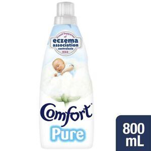 NEW Comfort Pure Hypoallergenic White Laundry Fabric Softener Conditioner 800mL
