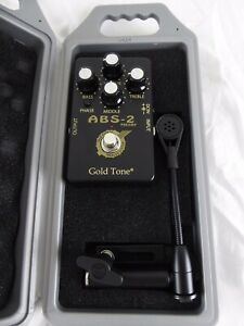 Gold Tone Abs Amplifié Banjo & Résonateur Guitare System-neuf Avec étui Rigide-afficher Le Titre D'origine