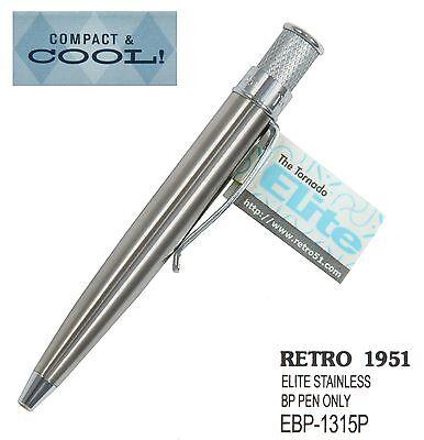 Retro 51 #EBP-1315P / Stainless Elite Series Tornado Pen