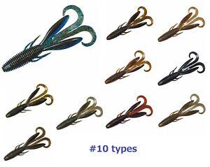 DAIWA-soft-bait-STEEZ-HOG-worm-lure-8pcs-SET-black-bass-fishing-10types