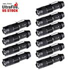10x Ultrafire SK68 6000LM CREE Q5 LED Flashlight Zoomable Torch Police Light MT
