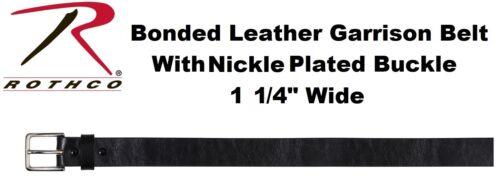 """Garrison Belt 1.25/"""" Black Bonded Leather Garrison Belt Black Leather Belt 4263"""