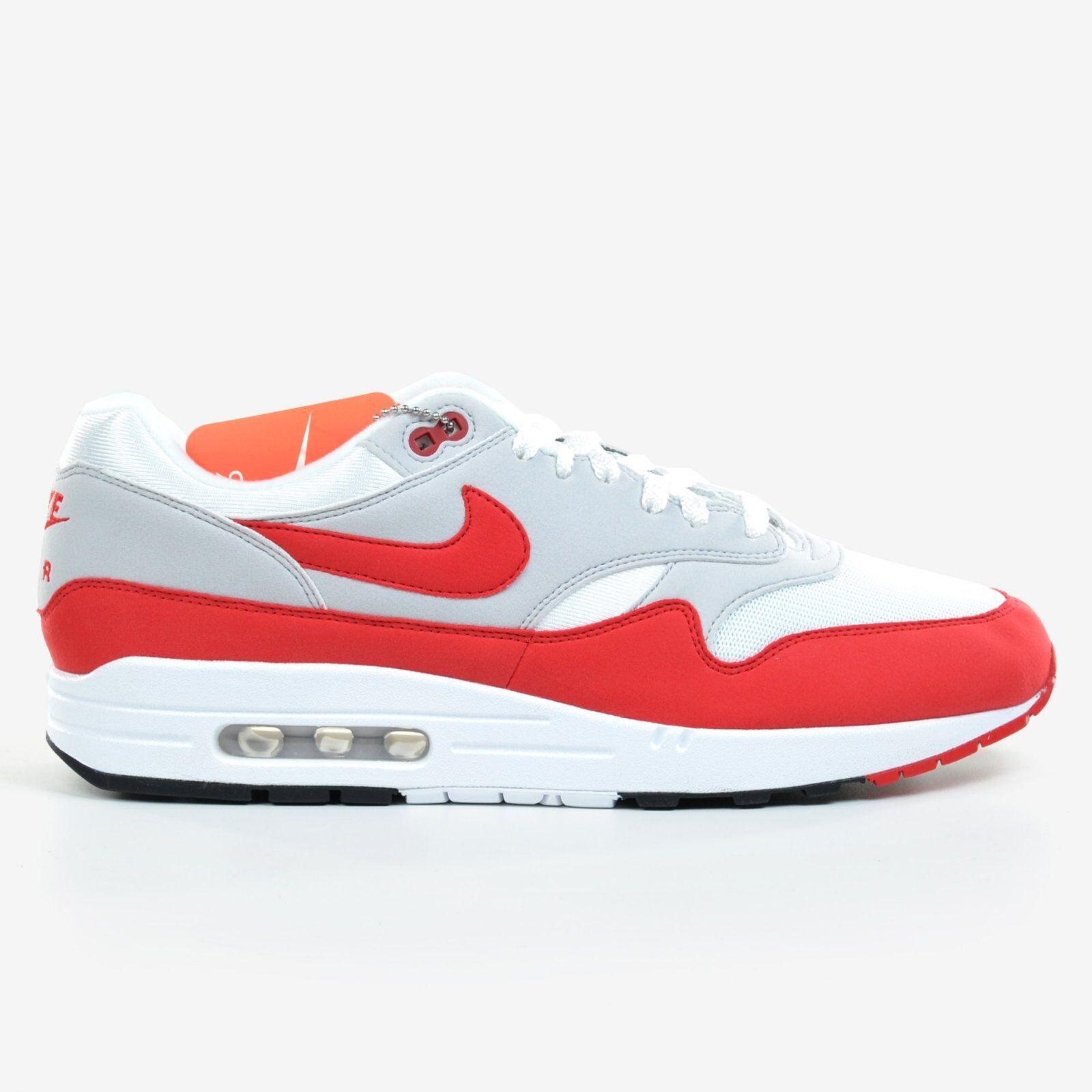 Nike Air Max 1 Anniversary 2017 White University Red Grey Men's OG 908375-103