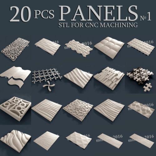 3d stl Model relief for CNC Router Artcam 20 pcs Pack №1