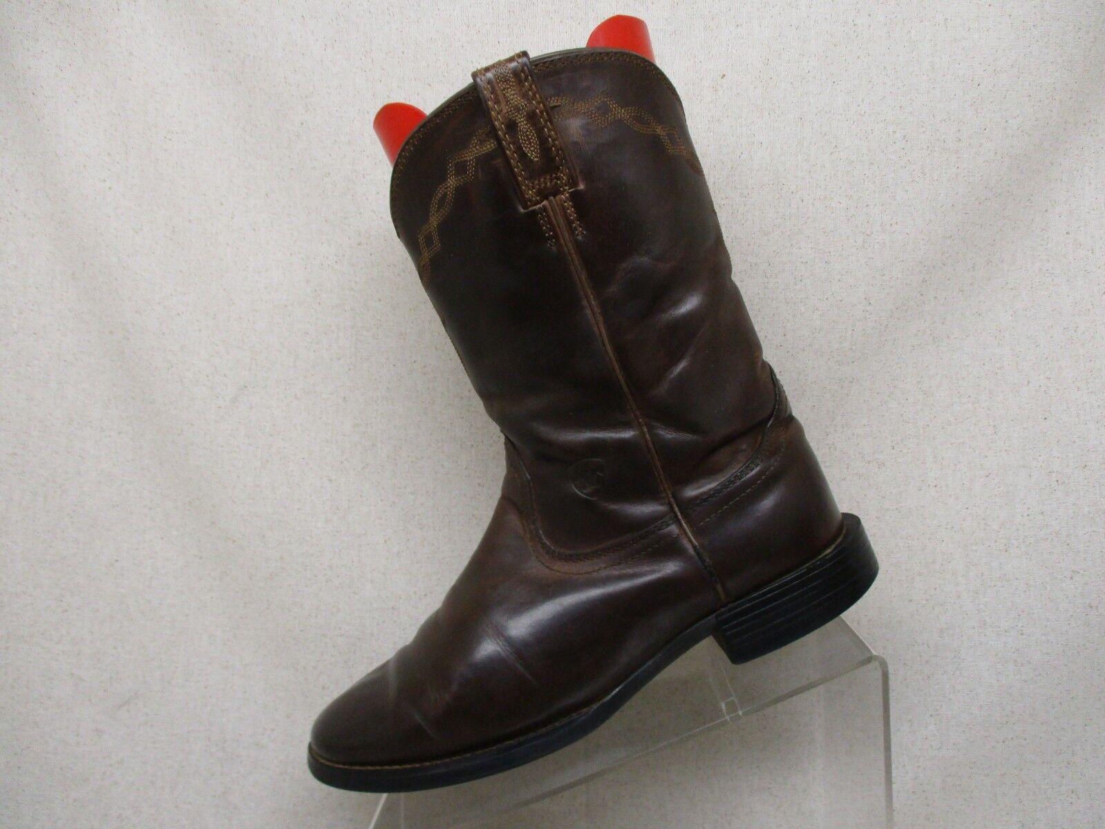 Ariat en cuir marron Roper Cowboy Western bottes Homme TAILLE 9 C style 14525