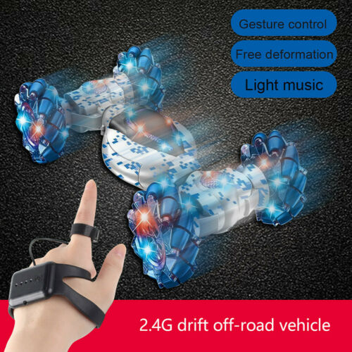 Xmas Stunt RC Auto Gesture Sensing Twisting Off-Road Vehicle Driving Drift Car