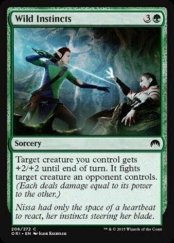 4x MTG: Wild Instincts Origins Green Common Magic Card ORI