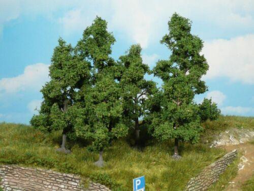 Heki 1931 Obstbäume Bäume Laubbäume 4 Obstbäume H0 TT N 9-11 cm Neu