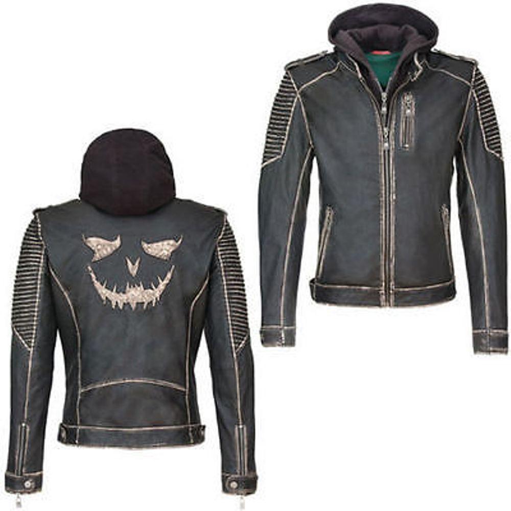 Suicide Squad The Joker Leder jacke schwarz M günstig kaufen