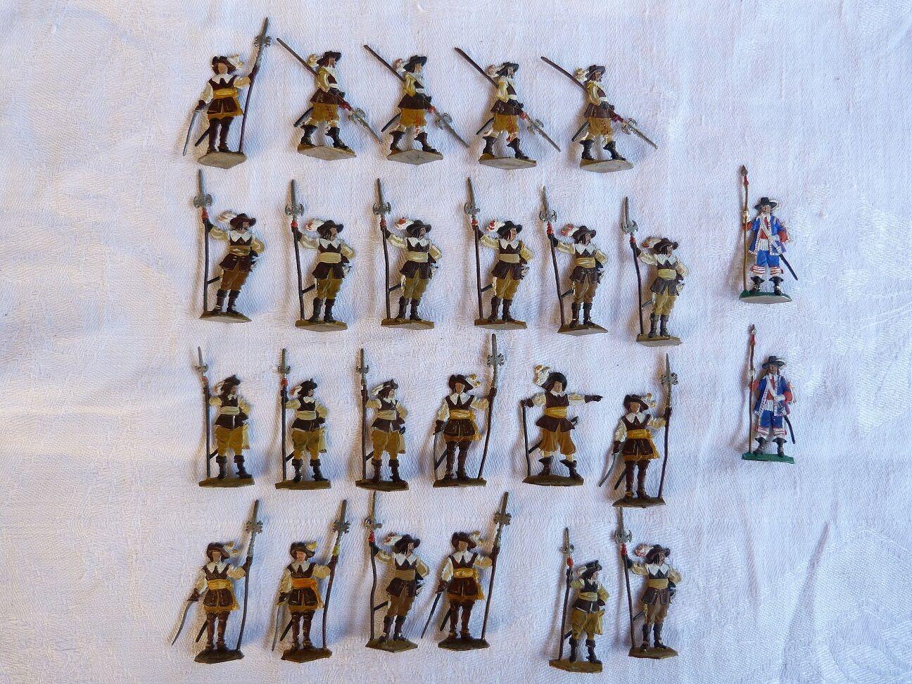 Plats d'étain - - - flat tin - zinnfiguren   25 soldats de la guerre de 30 ans 1f676e
