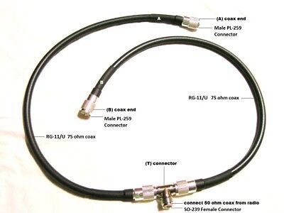 LOOP X 2 PLUS HARNESS PACKAGE ANTENNA 2 METER 144 MHz HAM RADIO