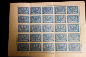 L-039-Arabie-Saoudite-timbres-N-162-VF-OG-NH-feuille-de-25-RARE-amp-Fresh