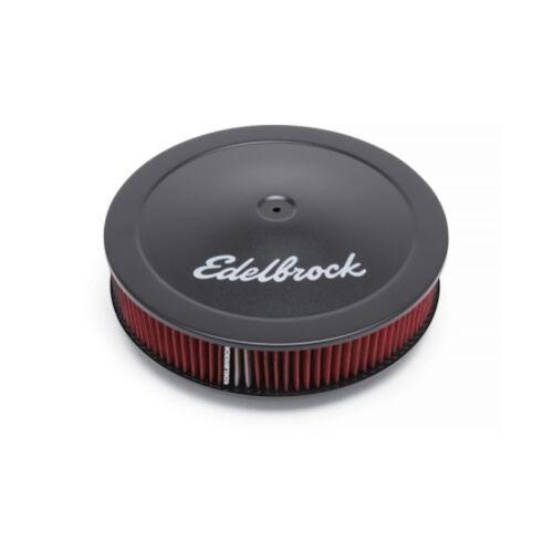 "Edelbrock 1225 Black PRO-FLO SERIES ROUND AIR CLEANERS 14/"" Dia"