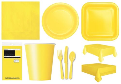 SOFT YELLOW TABLEWARE Plates//Cups//Napkins//Tablecovers//Bags//Balloons