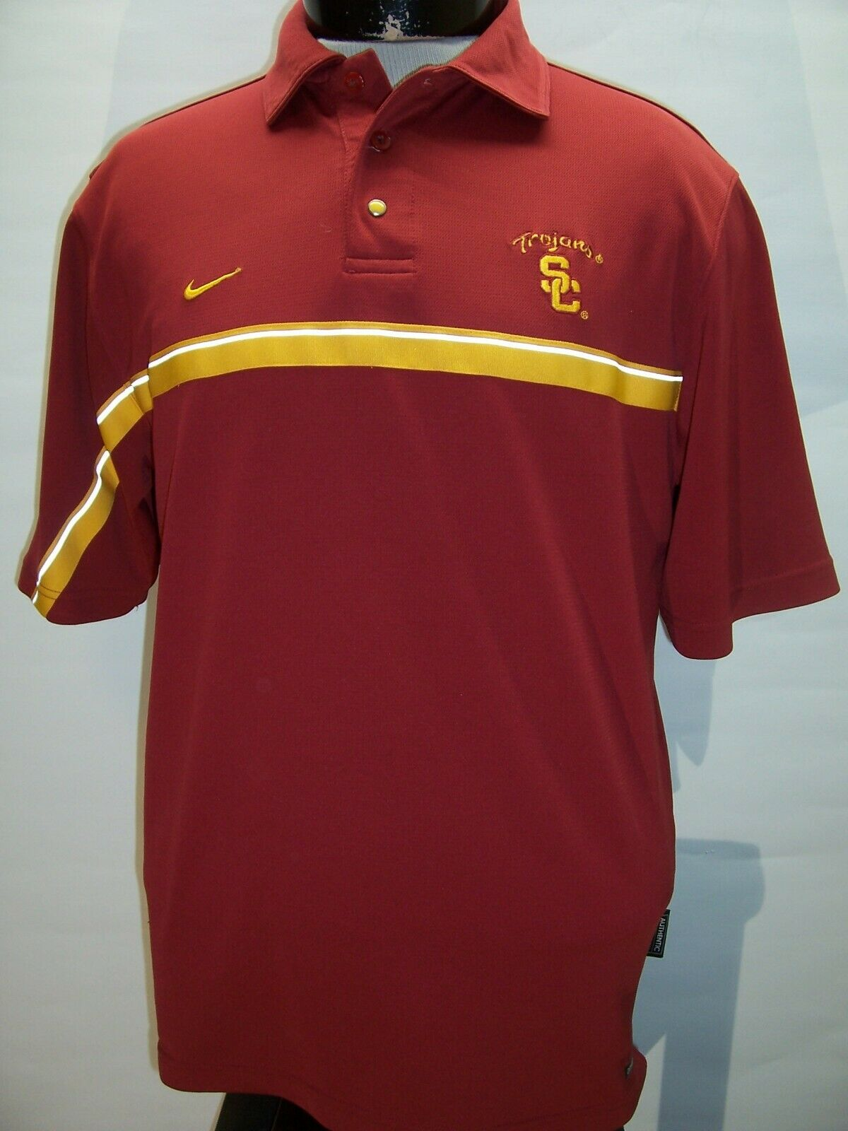 NIKE USC TROJANS Small S Dri-Fit Polo shirt Combined ship discounts