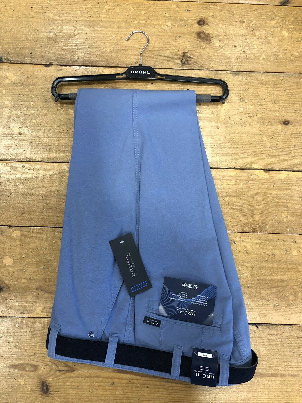 BRUHL® Venice B Summer Cotton Stretch Trousers Smoke bluee - 32 32 NEW SPRING 19