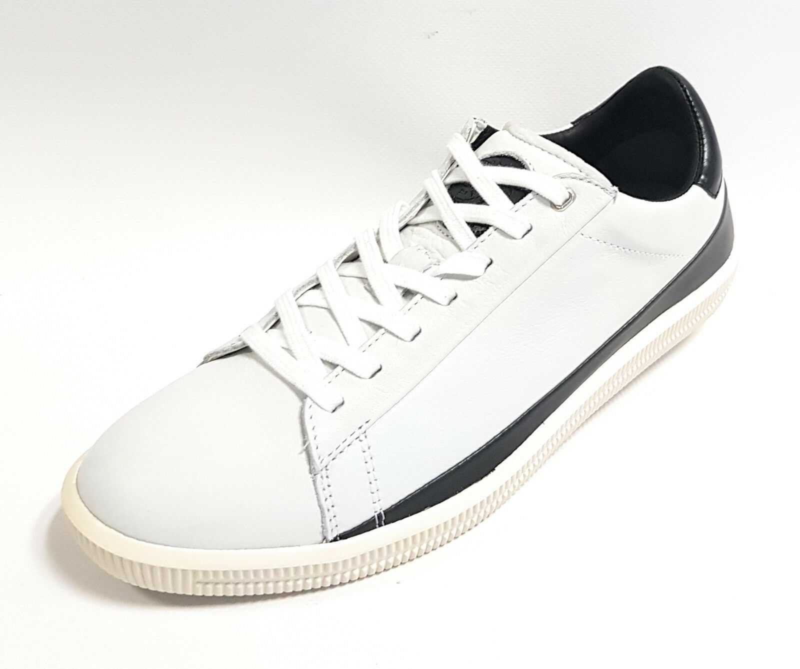 DIESEL D-naptik uomo in pelle scarpe scarpe da ginnastica Uomo SHOES BIANCO-NERO b5