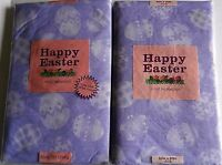 Easter Vinyl Tablecloths Assorted Sizes Easter Eggs Purple