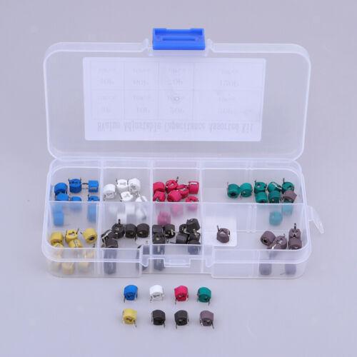 Trimm kondensatoren Sortierte Box Kit 8 Werte X 10 Stück insgesamt 80