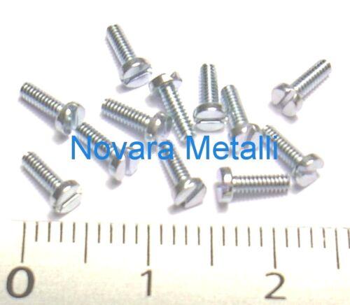 100 microviti Testa Cilindrica M1,6x4 taglio cheese screws vis fente tornillos