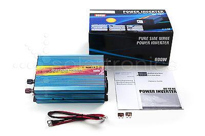 Spannungswandler 12V 300/600 Watt reiner SINUS Inverter Wechselrichter
