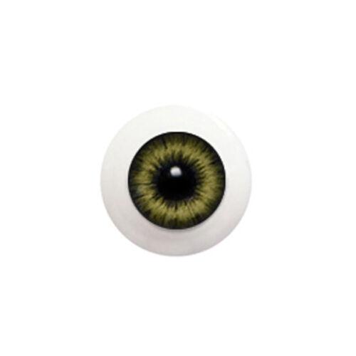 GLIB BJD New Life Like Acrylic 14mm Yellow Gray G14LD-05 eyes