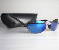 Vintage Ray Ban B&L USA ORBS BLUE MIRRORED Sunglasses oval metal aviator black