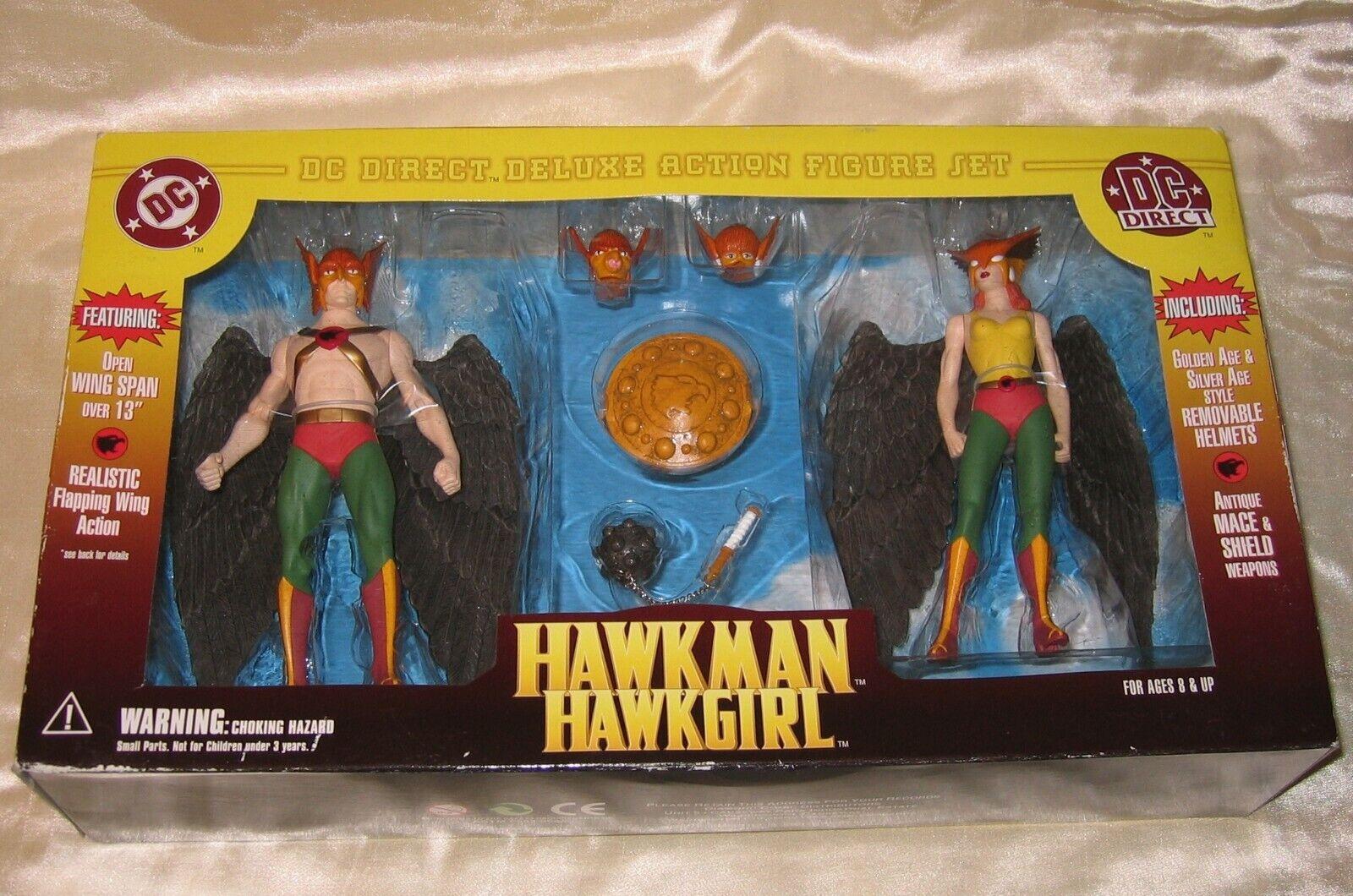 2000 DC Direct Hawkuomo e Hawkgirl Hawkgirl Hawkgirl Deluxe azione cifra Set 0bc94b