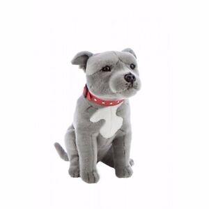 Staffordshire Bull Terrier Staffy Plush Soft Toy Dog 38cm Storm by ...