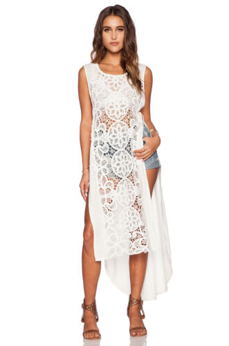 NWT Free People Never Enough Maxi Dress in Ivory