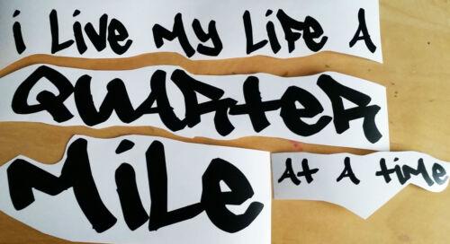 I LIVE MY LIFE Fast Furious 7 car sticker decal vinyl Paul Walker window boot