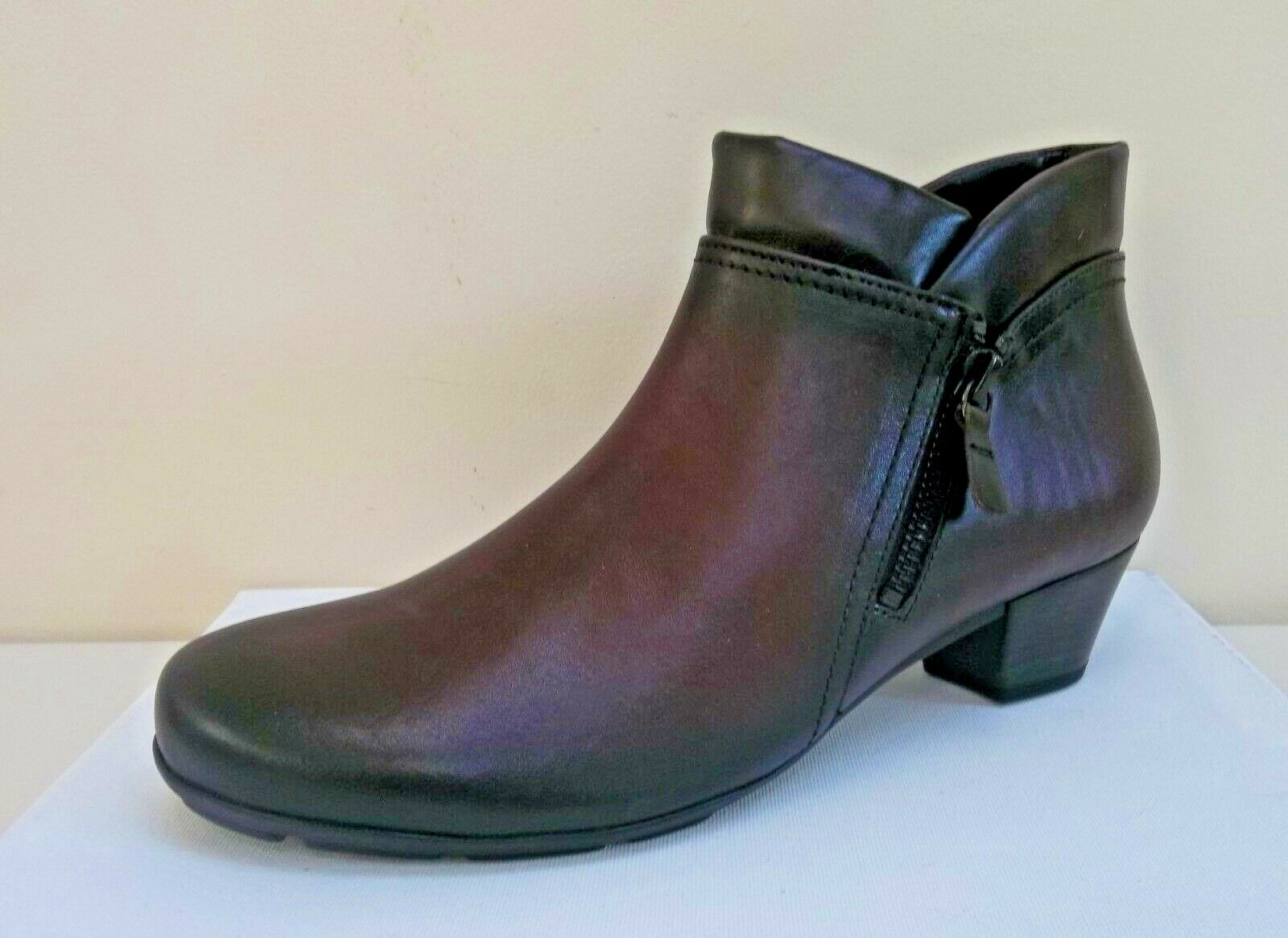 Gabor burgundy leather ankle boots, RRP  BNWB