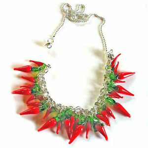 50-100Pcs-Red-Green-Stem-Chilli-Pepper-Veggie-Glass-Drop-Beads-Charm-Pendant-DIY
