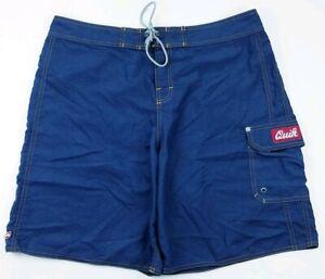 Quiksilver-Mens-Blue-Swim-Board-Shorts-Size-36