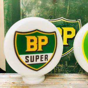 Mini Gas Pump Globe, BP Super Gasoline Shield, Oil and Petrol Memorabilia