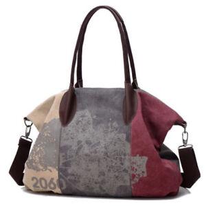 8603804cadaf Details about Vintage Canvas Women Messenger Shoulder Bags Big Casual Tote  Handbags Hobo Bag