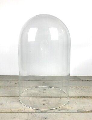 Imparziale Fatto A Mano Bocca Vetro Soffiato Trasparente Circolare Visualizzazione Cloche Campana Di Vetro A Cupola 40 Cm-