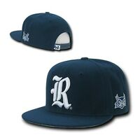 Navy Blue Rice University Owls Ncaa Flat Bill Snapback Baseball Ball Cap Hat