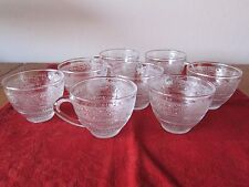 SET OF 8 VINTAGE KIG INDONESIA PRESSED GLASS CUPS