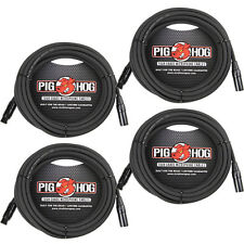 4-Pack of Pig Hog PHM25 Microphone XLR Recording Live Sound Mic Cables - 25 ft